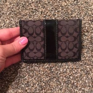 Coach black logo wallet